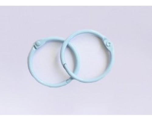Кольца 2 см. голубые, 2 шт