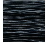 шнур вощеный черный 1 мм, 3м