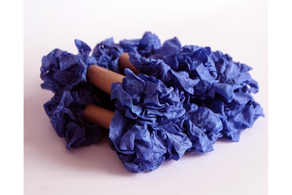 """Шебби лента - """"Королевский синий"""", 2,5 метров"""