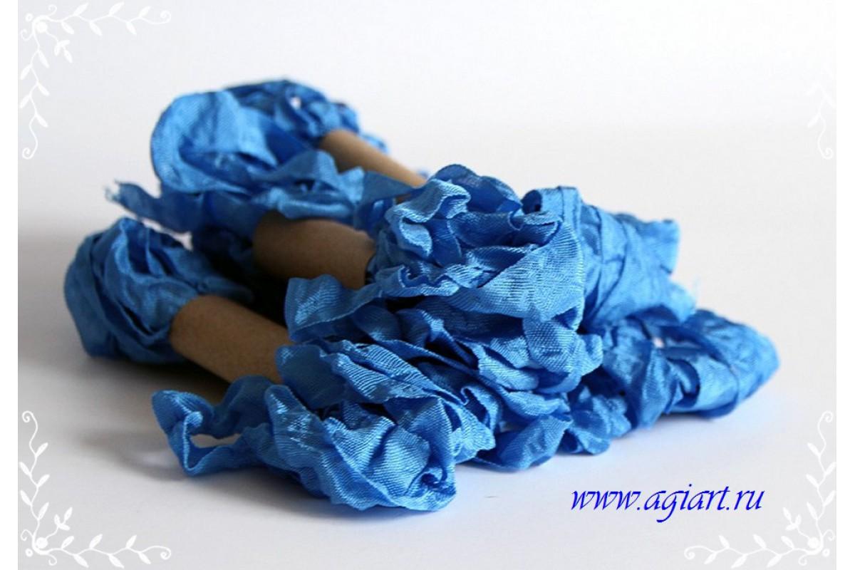 """Шебби лента - """"Синяя джинса"""", 2,5 метров"""