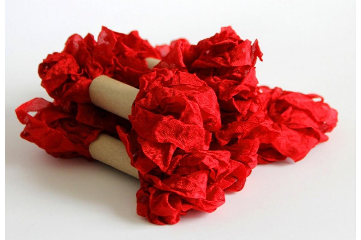 "Шебби лента - ""Ярко-Красная"", 2,5 метров"