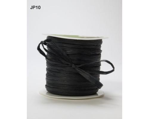 Рафия бумажная  черная 3 метра