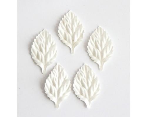 Листья Белые без стебля 4 см, 10шт.