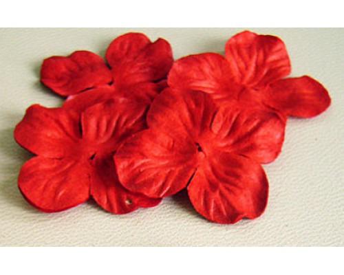 Красная гортензия 2.5 см 10 шт