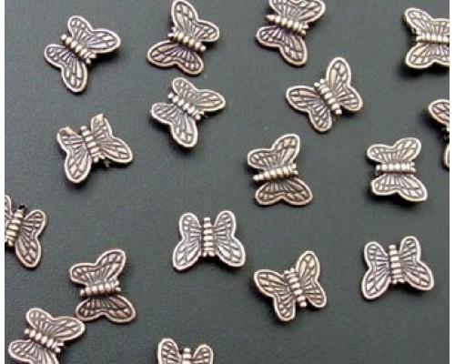бусина/коннектор бабочка, бронза 11*9 мм