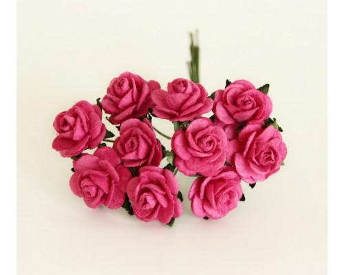 """розы цвет """"фуксия"""" 1,5 см, 10шт."""