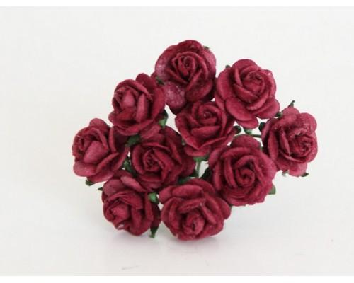 """розы """"Ягодные"""" 1 см, 10 шт."""