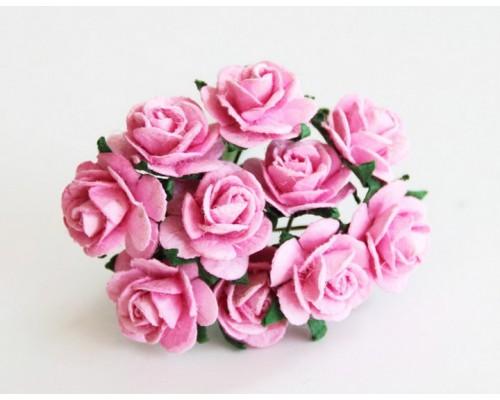 розы розовые 1,5 см, 10шт.