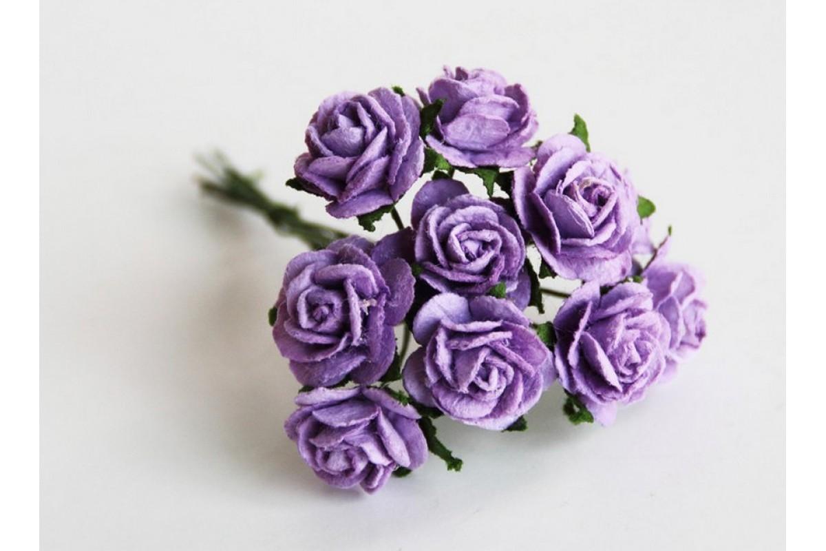розы сиреневые 1,5 см, 10шт.