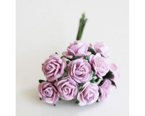 розы св. сиреневые 1 см, 10шт.