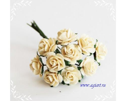 розы св. желтые 1 см, 10шт.