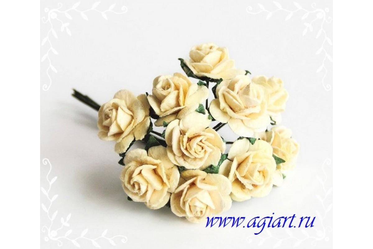 розы Св.желтые 1,5 см, 10шт.