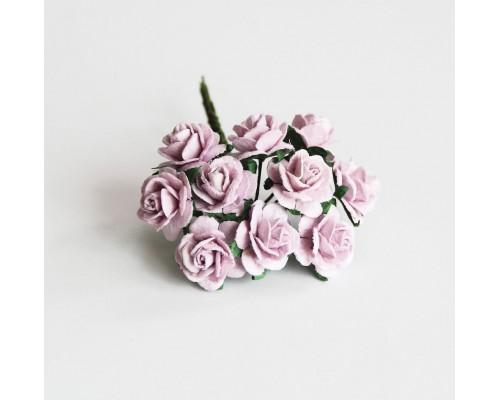 розы светло-сиреневые 1,5 см, 10шт.