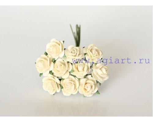 Розы молочные 1 см, 10шт.