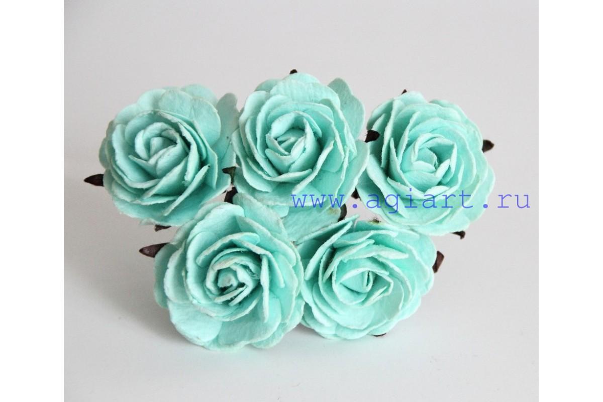 Роза крупная мятная 4 см. 1 шт