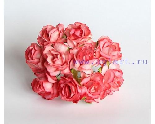 Кудрявые розы 3 см - Коралловые, 5 шт