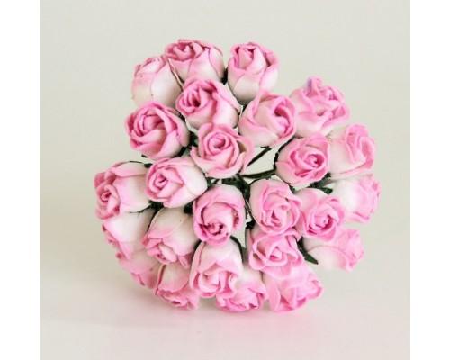 Бутоны крупные розово-белые, 5 шт